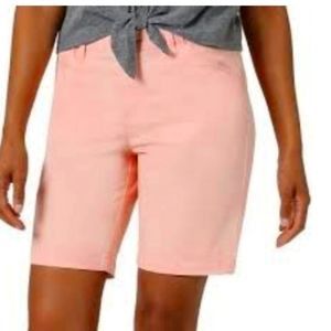 Woman within pink shorts